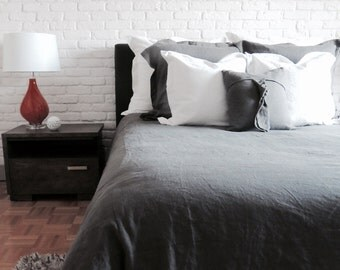 "Duvet cover / 100% linen / bed / 90 ""x 95"""