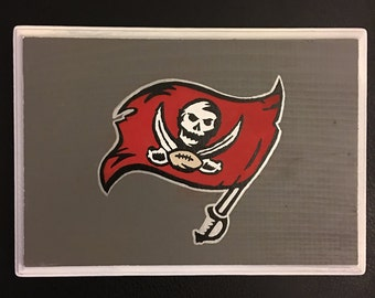Hand drawn tampa bay buccaneers wall hanging home decor