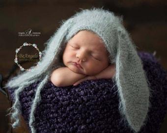 Newborn bunny hat| New colors | Newborn fuzzy bunny hat| Fluffy bunny hat| Newborn bunny  bonnet | Baby bunny hat |  Newborn animal bonnet