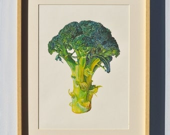 broccoli print - from the original artist painting