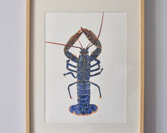 Lobster print - from the original artist painting