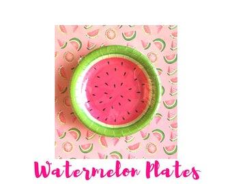 Watermelon Plates. Watermelon Party. Watermelon Birthday. Watermelon Theme. One in a Melon. Watermelon First Birthday.