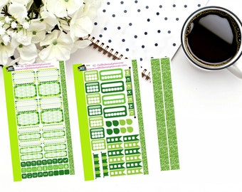 Personal Planner Weekly Sticker Kit| St. Patrick's Day Theme Personal Planner Kit|Planner Stickers| Pink and Green Flowers| P016