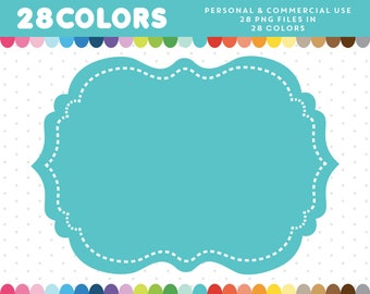 Stiched Frames, Digital Stiched Frame Clip art, Border Clipart, Stiched Vintage Frame, Wedding Frame Clipart, Frame Label, CL-379