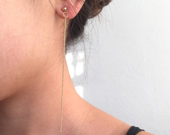 Long dainty chain earrings
