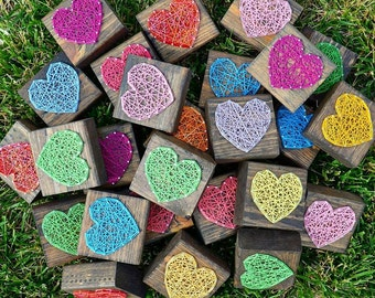 Mini Hearts String Art Home Decor, Teacher Gifts, Office Presents