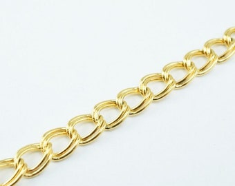 New Gold Filled Chain 18K Size 6x2mm for Jewelry Making GFC47 Sold by Foot