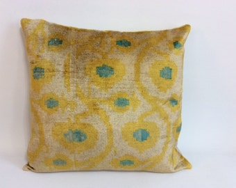 yellow ikat pillow cover x ikat pillows decorative pillow