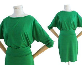 Jersey dress green S dress time, jersey dress