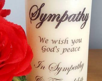 Sympathy personalised LED candle