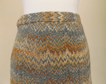 vintage 80s skirt country casuals tweed wool 12 10