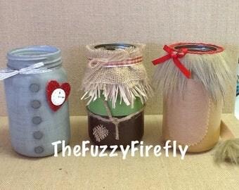 Set of 4 Wizard of Oz Inspired Mason Jar Centerpieces,Dorothy PartyWizard of oz Nursery Decor,Wizard of oz Baby Show