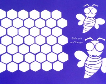 List 3 - Assorted Bee stencils *Free gift with every order*