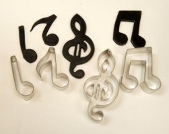 Set of  Metal Musical Notes Cutters