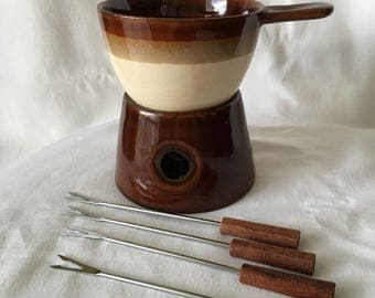 Vintage Gourmet Fondue Set With Original Box Himark.  Chocolate Fondue.  Cheese Fondue. Fondue Forks. Date Night. Camping.