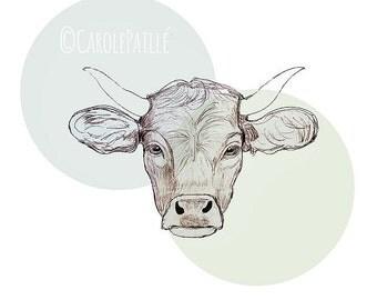 Cow print • Art Print on canvas