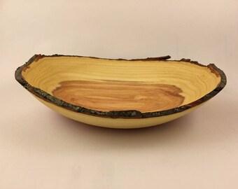 Live edge wooden bowl