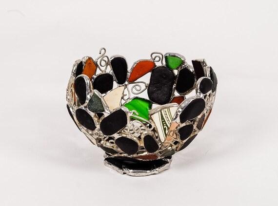 verre de mer charbon et bol de poterie de mer cume de mer. Black Bedroom Furniture Sets. Home Design Ideas