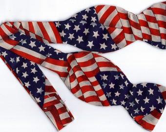 American Flag Self-tie Bow Tie | American Flag bow ties | Patriotic bow ties | 4th of July | US Flag ties | bow ties for men | USA bow ties