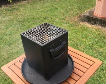 MINI, Table top Heavy duty BBQ / Fire pit / Heater, ideal for caravanning, home, patio, garden.