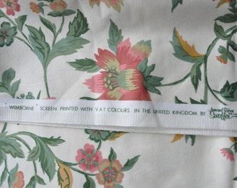 Anne and Robert Swaffer 'Wimborne' fabric 1970s 2.5 metres unused