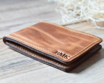 Leather Bifold Card Wallet, Minimalist Bifold Wallet, Slim Bifold Wallet, Leather Card Bifold, Personalized Bifold, Awesome Gift Wallet