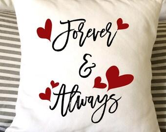 valentine pillow forever always pillow love pillow decorative pillow throw pillow - Valentine Pillow