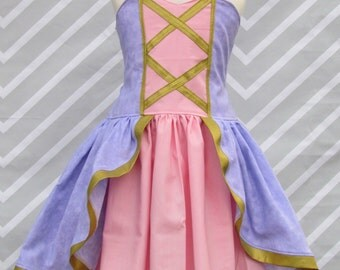 Princess Tangled Rapunzel Inspired Birthday Party Pageant Dress