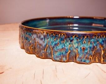 Dinner Plate Handmade Pottery plate, Handmade plate, Stoneware plate, Wheel thrown pottery plate