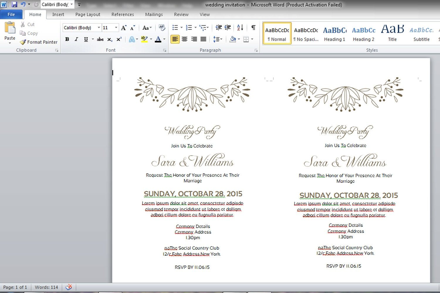 Birthday Invitation Using Microsoft Word Baby Shower Invitations - Birthday invitation using ms word