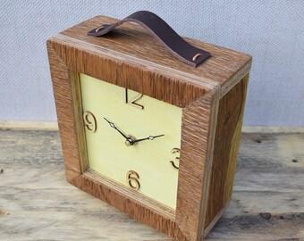 Table Clock, Desk Clock, Modern Clock, Clock, Wooden Clock, Handmade Clock, Small Clock, Oak Clock,Modern Table Clock,