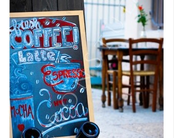 Italy Photography Cafe Print Coffe Art Decor Street Cafe Print Wall Art Home Decor Coffee Wall Art Photography Download Coffee Lovers Gift