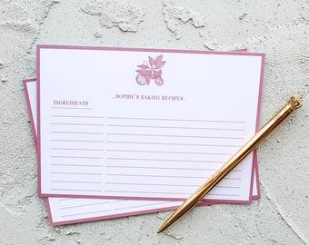 Orange Blossom Personalised Baking Recipe Card Set