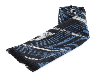 Pure Silk Scarf * Scarf Valentines Gift for men * Blue Mens Scarf * Premium Men Scarf * Birthday gift * Husband Gift * Gift for Him *