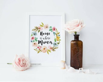 Home is where Mum is Print - Mother's Day Print