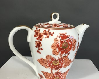 Small Japanese Gold Imari Teapot with Rust Coloring