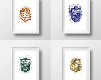 Harry Potter, Hogwarts Gryffindor, Hufflepuff, Slytherin ™, Logos, R * Instant Download *