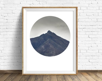 "landscape photography, instant download, printable art, instant download art, printable wall art, nature, gray, modern - ""Climb Mountains"""