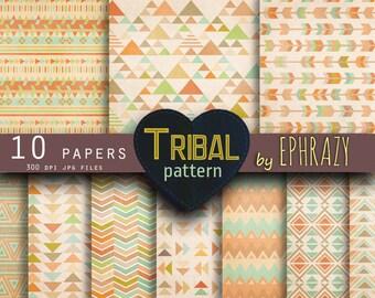 Tribal digital paper. Digital paper tribal. Tribals. Tribal pattern. Tribal digital. Geometric. Earth tones. Triangle digital paper