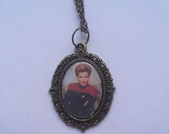 Captain Kathryn Janeway Star Trek Cameo Necklace