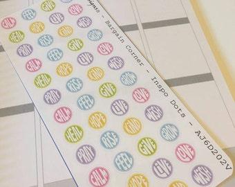 AJ6D202V,  Bargain Corner Inspo Dots, Planner Stickers