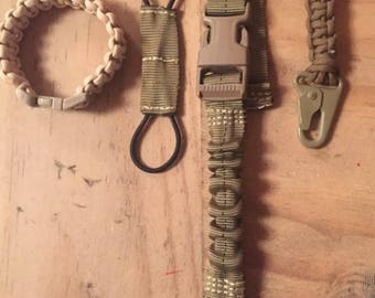 Tactical EDC lanyard, 550 Paracord, Tourniquet molle retention, H&K Tactical
