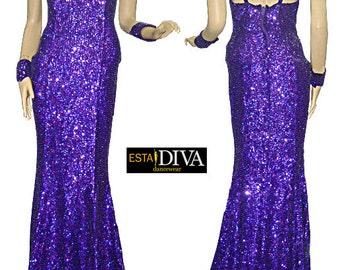 Sequin Dress - Cabaret Diva  - Diva Dress, Cabaret Dress, Sequin Gown, Diva Sequin Dress, robe à paillettes, Paillettenkleid