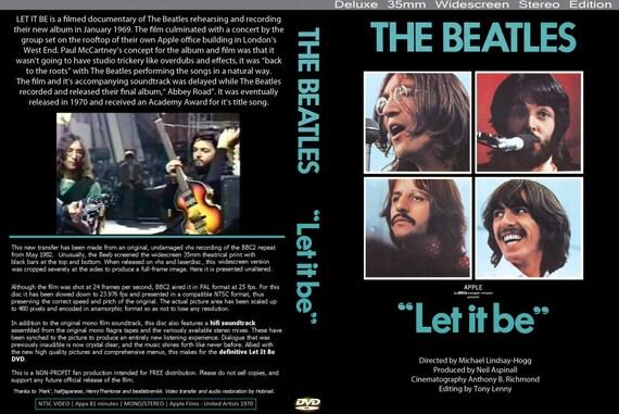 Let It Be Beatles DVD 1970 Rare Paul Mccartney John Lennon George Harrison Ringo Starr