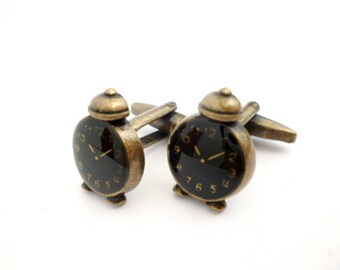 Steampunk Shirt cufflinks_NA6452008447/00512_ Gifts for men_Steampunk_ Black watch
