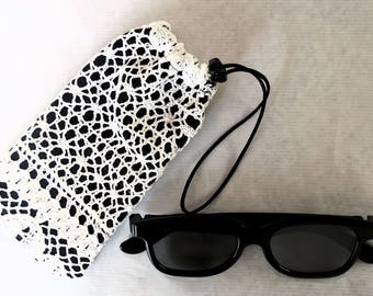 Cover glasses case, protection glasses, case the hook, soft glass, fabric, phone case case case, telephone, pouch