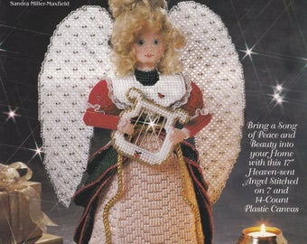 Heavenly Messengers Melody Angel, The Needlecraft Shop Plastic Canvas Pattern Booklet 943341
