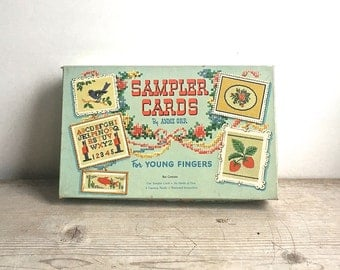 Sampler Cards by Anne Orr For Young Fingers 5390 Original Box 1953 Complete