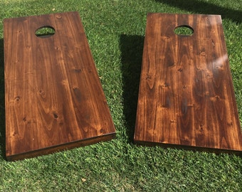 Bean Bag Toss Game Cornhole- Rustic Style in Coffee Finish