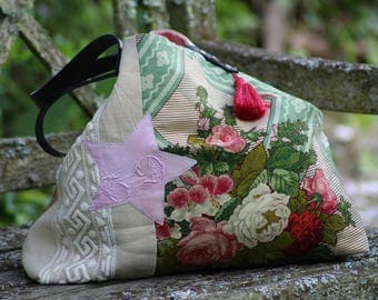 "Tote bag canvas and fabric ""Braquenié"" Made in France"